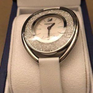 Swarovski crystal white watch like new